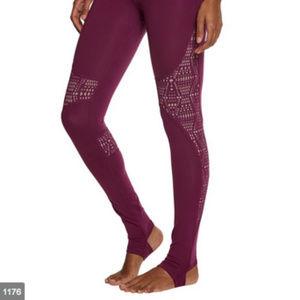 Alo Purple Cutout Laser Cut Leggings